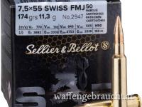 Sellier & Bellot 7,5x55 Swiss 174gr 50Stk.