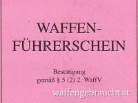 WAFFENFÜHRERSCHEIN + PSYCHOLOGISCHES GUTACHTEN  KOMPLETTSET