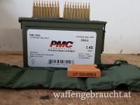 PMC .223 Rem. In Bandoleer mit Stripper clips + Lader in M2A1 Box