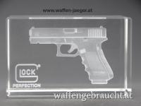 Glock Briefbeschwerer mit Hologramm