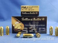 Sellier&Bellot 9mm Kurz ( 380Auto ) FMJ Browning COURT 6,0g/92grs.