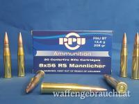 PPU 8x56 RS Mannlicher FMJ 208grs 13,5g